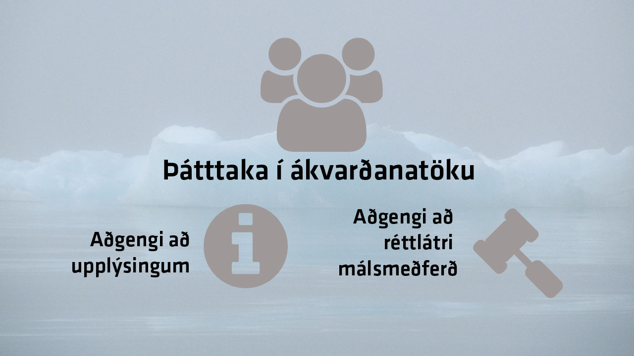 Árósasamningurinn tryggir rétt almennings til að hafa áhrif á ákvarðanir sem tengjast náttúrunni, landvernd.is