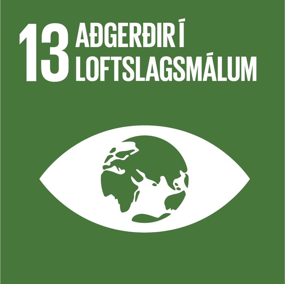 13. Aðgerðir í loftslagsmálum. Heimsmarkmið Sameinuðu þjóðanna, landvernd.is