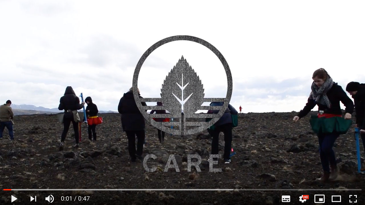 CARE is a volunteering program in soil and land restoration in Iceland for tourists and study groups from abroad, and Icelanders alike. The project gives participants the change to give back to nature and strengthen cultural ties between Icelanders and their foreign visitors. The project is one of many projects of Landvernd, Icelandic Environment association NGO