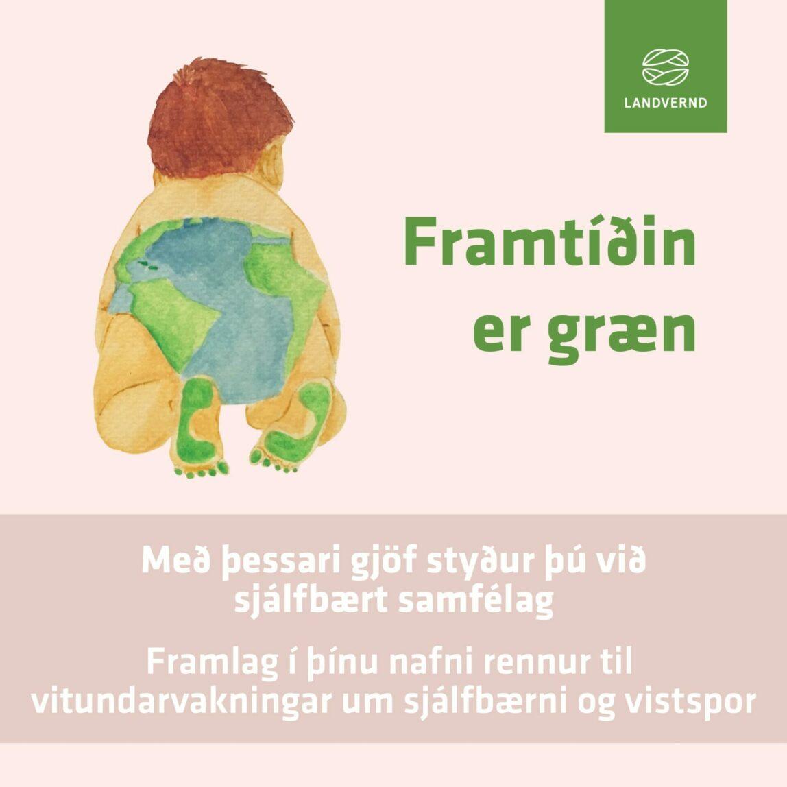Gefðu gjöf sem styður við græna framtíð, gjafabréf Landverndar minnkar vistsporið, landvernd.is