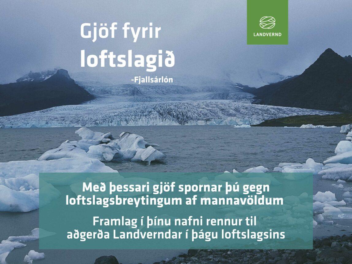 Rétta gjöfin styður aðgerðir í loftslagsmálum, gefðu gjafabréf Landverndar, landvernd.is