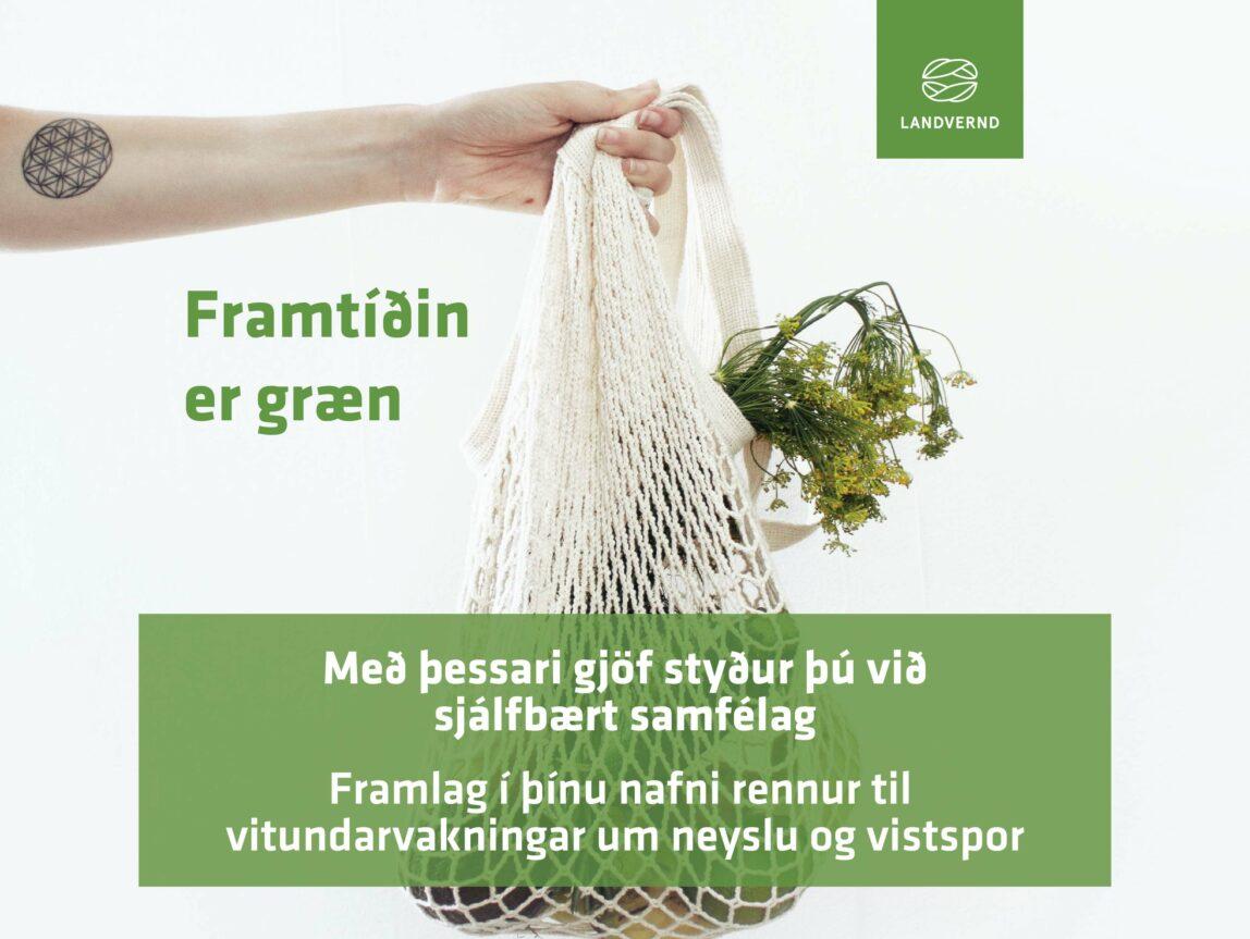 Framlag í þínu nafni rennur til vitundarvakningar um neyslu og vistspor, landvernd.is