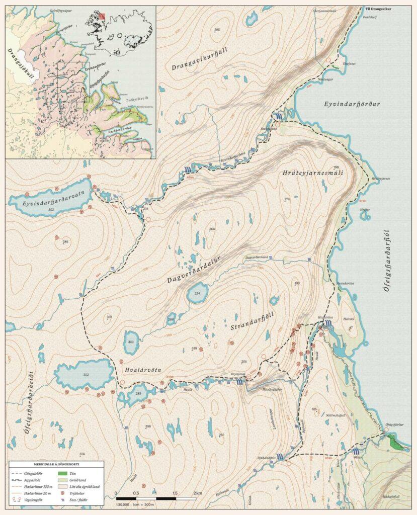 Hvalá, Drangajökulsvíðerni á Ströndum eru einstakt svæði, gakktu um fágæta náttúru, landvernd.is