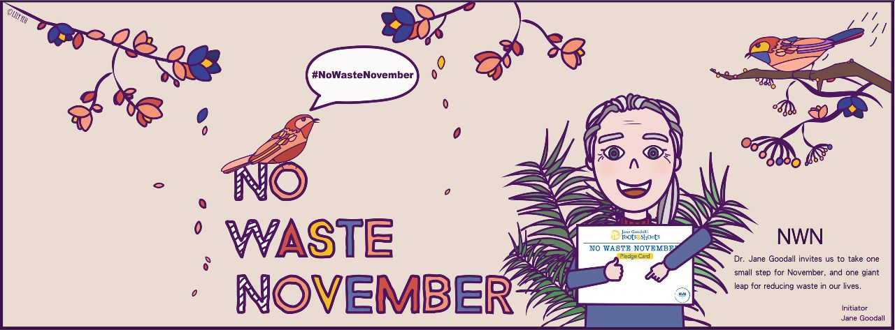 Engin sóun í nóvember - no waste november er átak Root's and shoots