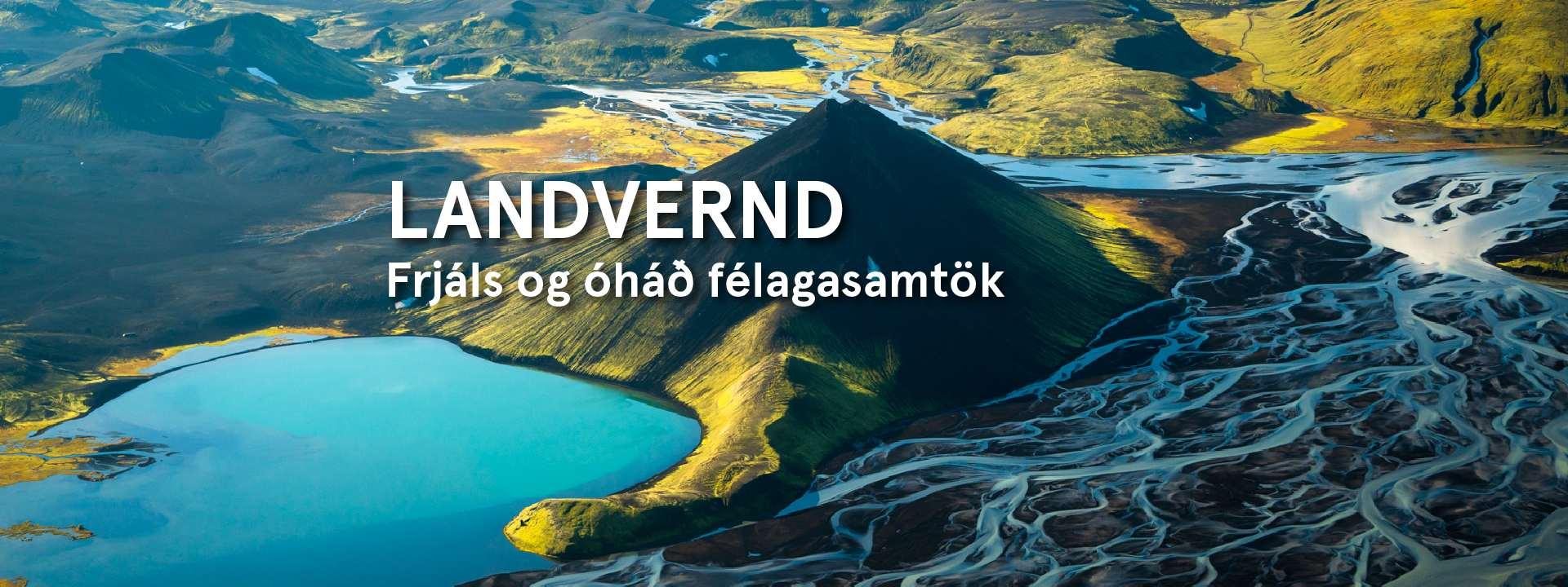 Stakihnjúkur og Tungnaá á hálendi Íslands, vestur af Vatnajökli. Landvernd.is