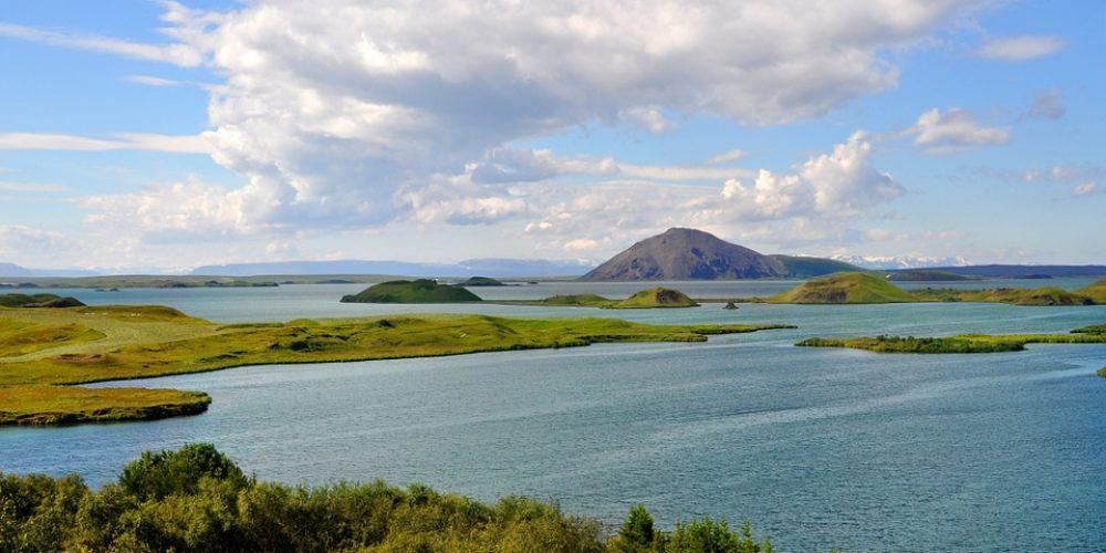 Iceland Wide Lake Mývatn Höfði Horizon