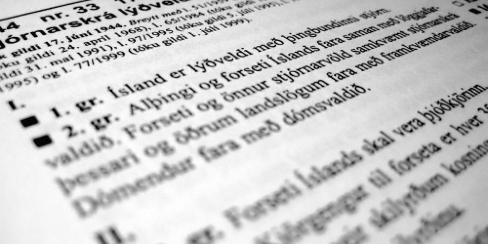 Þjóðin hefur kosið sér nýja stjórnarskrá. landvernd.is
